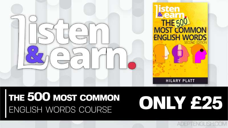 Improve your basic spoken English with our most common 500 English words audio course.