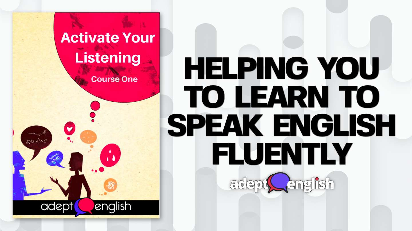 Learn to speak English course one activate your listening product cover art.