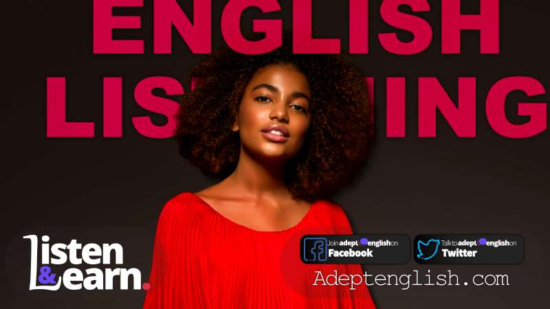 A lady in red. Common English words and phrases for the colour red, in today's English language lesson.