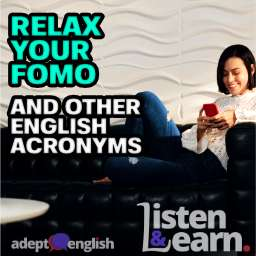 Young Hispanic Girl Messaging With Cell Phone On Sofa English Podcast About Acronyms