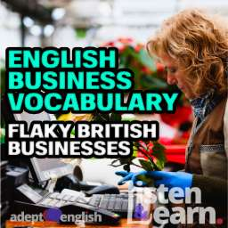 A photograph of a professional small business florist, used to help explain English business vocabulary.