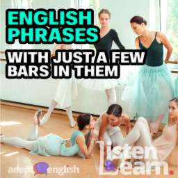 A photograph of seven ballerinas at ballet bar. Used to help explain the many uses of the English word bar.