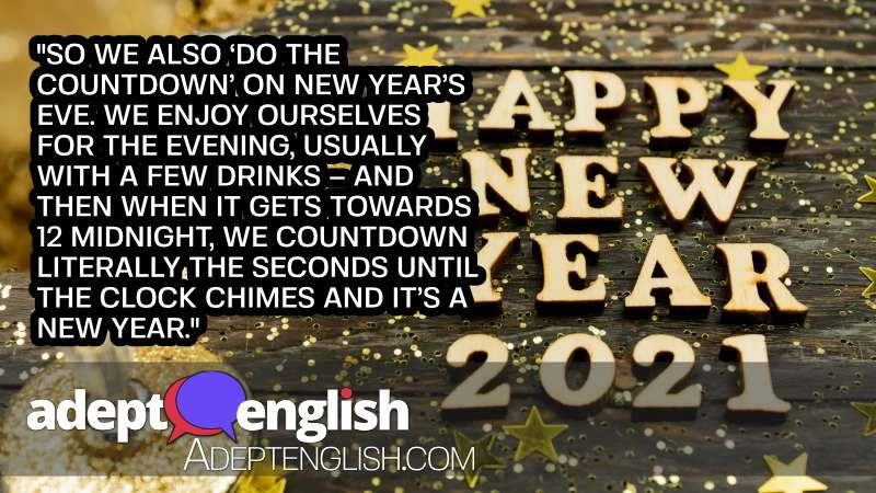 Happy New Year from Hilary. As we count down to a new year of English language learning.