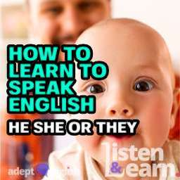 An up close photograph of a baby looking into the camera lense, you cannot tell if the baby is a he or a she, used to help explain the English grammar lesson he, she and they.