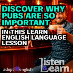 A photograph of friends drinking beer at the counter in pub, used in this English language lesson about pubs.