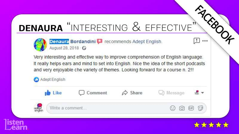 See what Denaura and other English language students have to say about our way of learning to speak English.