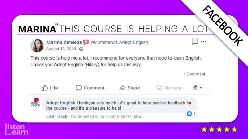 See what Marina and other English language students have to say about our way of learning to speak English.
