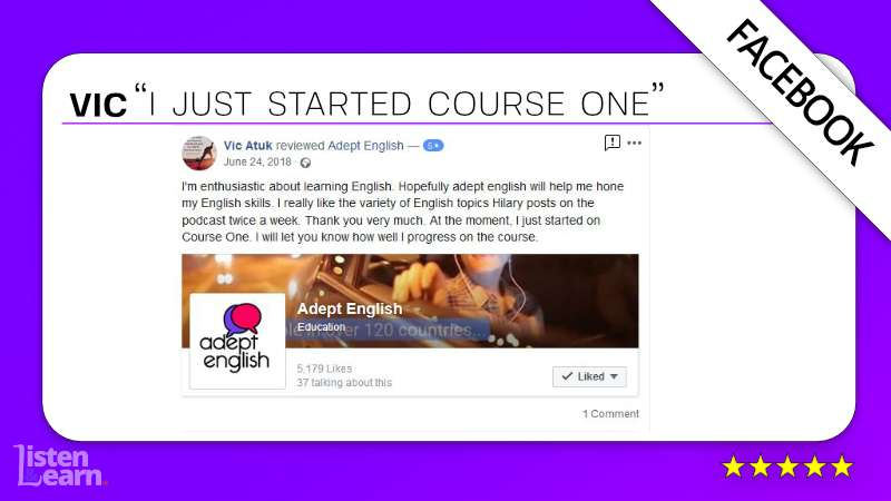 See what Vic and other English language students have to say about our way of learning to speak English.
