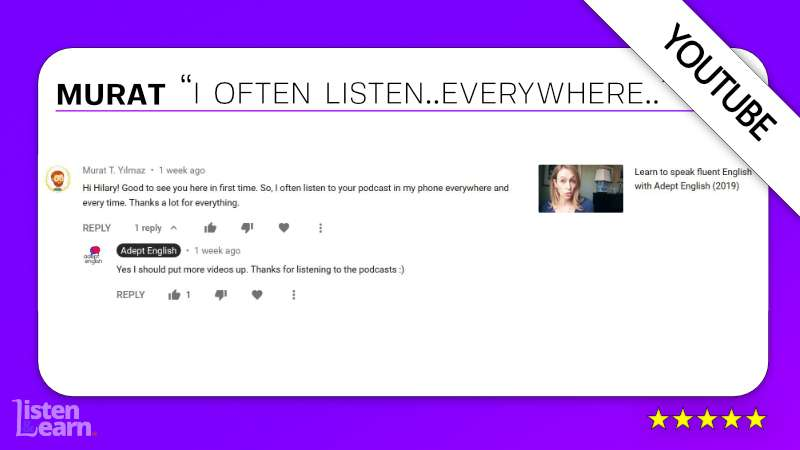 See what Murat and other English language students have to say about our way of learning to speak English.